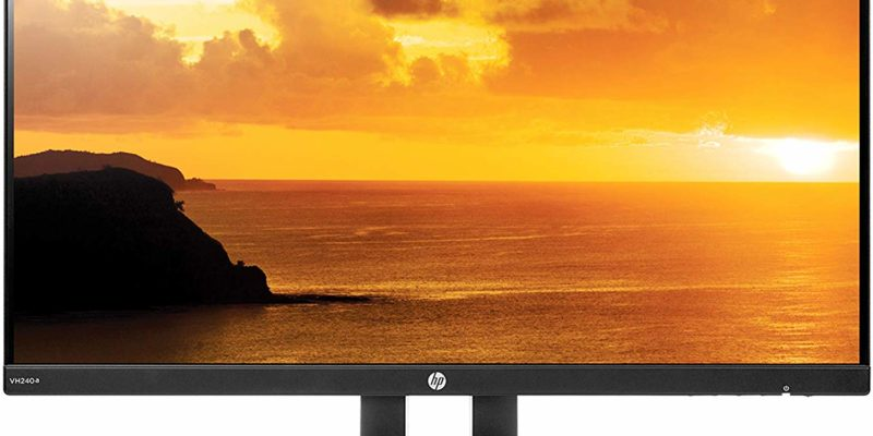 HP 23.8 VH240a monitor with built-in speakers